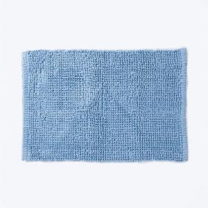 blue-cotton-woven-bathmat - bath-accessories