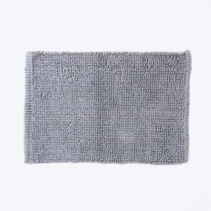 grey-cotton-woven-bathmat - bath-accessories