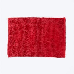 red-cotton-woven-bathmat - bath-accessories