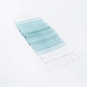 blue-cotton-woven-krishi-hand-towel - bath-towels