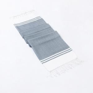 grey-cotton-woven-krishi-hand-towel - bath-towels