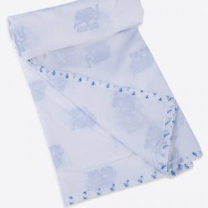blue-cotton-printed-aangan-ibha-kids-dohar - kids-bed-and-bath