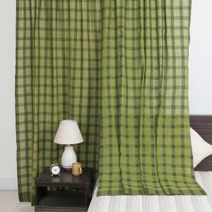 green-cotton-woven-jharkhand-curtain-window - curtains-and-blinds