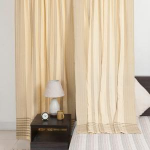 beige-cotton-woven-majid-curtain-window - curtains-and-blinds