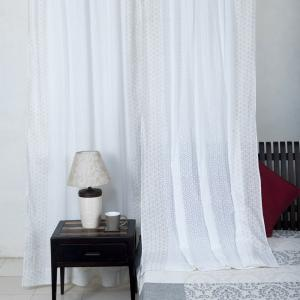 yellow-cotton-printed-bana-curtain-window - curtains-and-blinds