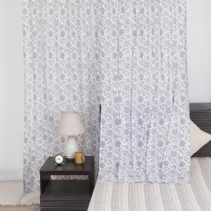 yellow-cotton-mull-printed-ishwar-curtain-window - curtains-and-blinds