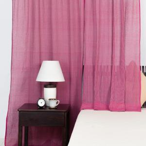 pink-cotton-woven-curtain-window - curtains-and-blinds