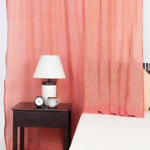 orange-cotton-woven-curtain-window - curtains-and-blinds