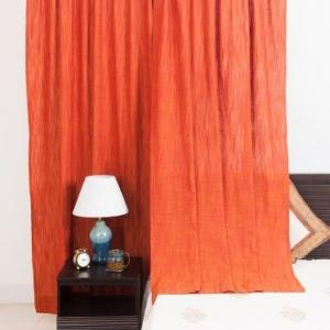 orange-cotton-woven-nalika-curtain-window - curtains-and-blinds