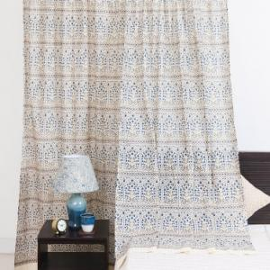 blue-mull-cotton-printed-curtain-window - curtains-and-blinds