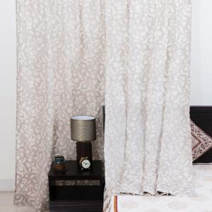 beige-cotton-cutwork-tejas-curtain-window - curtains-and-blinds