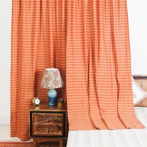orange-cotton-woven-sushma-curtain-window - curtains-and-blinds