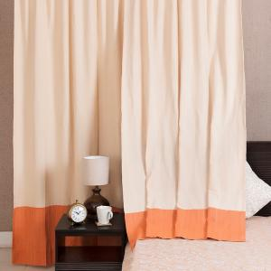 orange-cotton-woven-idika-curtain-window - curtains-and-blinds