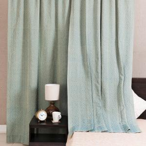 green-cotton-woven-rati-curtain-window - curtains-and-blinds