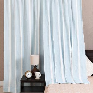 blue-cotton-woven-saaj-curtain-window - curtains-and-blinds