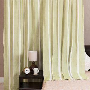 green-cotton-woven-saaj-curtain-window - curtains-and-blinds
