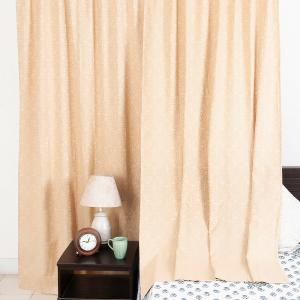 beige-cotton-woven-sumaira-curtain-window - curtains-and-blinds