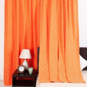 orange-cotton-woven-sumaira-curtain-window - curtains-and-blinds