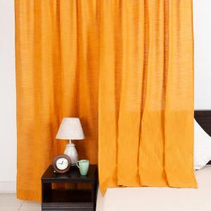 yellow-cotton-woven-nalika-curtain-window - curtains-and-blinds