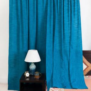 blue-cotton-woven-nalika-curtain-window - curtains-and-blinds