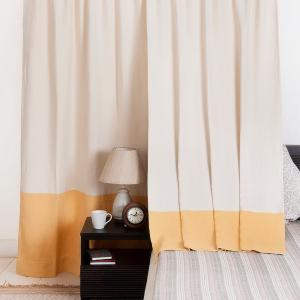 yellow-cotton-woven-revathi-mango-curtain-window - curtains-and-blinds