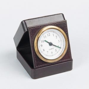 leather-compact-table-clock - desk-decor