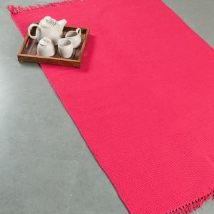 pink-cotton-woven-dhurrie - rugs-and-carpets