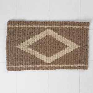 natural-woven-coir-diamond-footmat - rugs-and-carpets