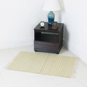 green-wool-woven-ketan-dhurrie - rugs-and-carpets