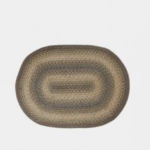 blue-jute-woven-afri-oval-dhurrie - rugs-and-carpets