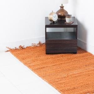 yellow-jute-woven-danish-dhurrie - rugs-and-carpets