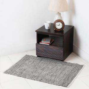 black-cotton-woven-tvisha-dhurrie - rugs-and-carpets