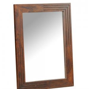 sheesham-wood-half-grooved-mirror - mirrors-and-jharokhas
