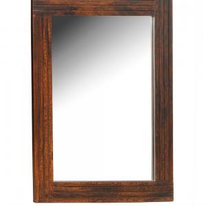 sheesham-wood-grooved-mirror - mirrors-and-jharokhas