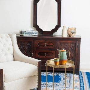 sheesham-wood-amer-mirror - mirrors-and-jharokhas