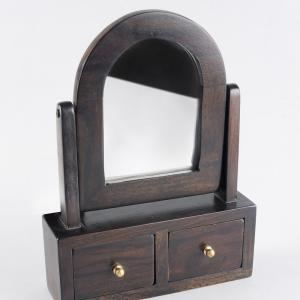 table-wood-mirror-with-drawers - mirrors-and-jharokhas