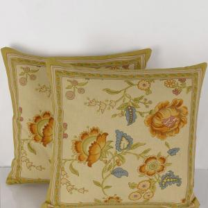 yellow-cotton-printed-kelly-cushion-cover - cushions-and-pillows