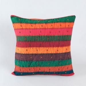 blue-cotton-embroidered-gudri-cushion-cover - cushions-and-pillows