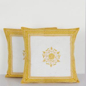 yellow-cotton-printed-iznik-cushion-cover - cushions-and-pillows