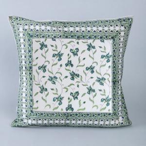 green-cotton-printed-akeem-boota-cushion-cover - cushions-and-pillows
