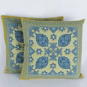 blue-cotton-printed-kahar-cushion-cover - cushions-and-pillows