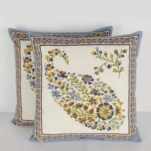 blue-cotton-printed-najiba-cushion-cover - cushions-and-pillows
