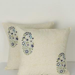 blue-cotton-printed-ridya-cushion-cover - cushions-and-pillows