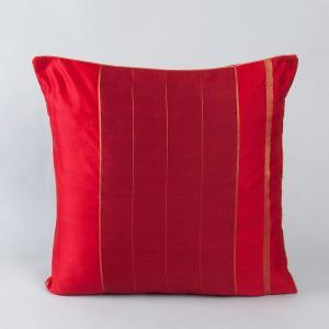 red-chanderi-woven-udai-cushion-cover - cushions-and-pillows