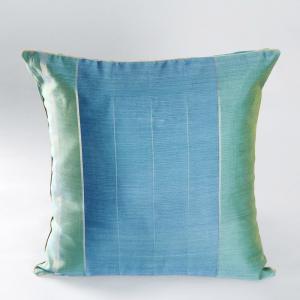 blue-chanderi-woven-udai-cushion-cover - cushions-and-pillows