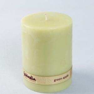 green-apple-pillar-wax-candle - candles-and-fragrances