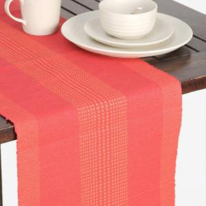red-cotton-woven-vnd-table-runner - table-linen-and-accessories