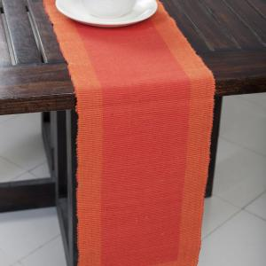 red-rib-cotton-woven-narrow-runner - table-linen-and-accessories