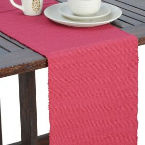 pink-cotton-woven-rib-table-runner - table-linen-and-accessories
