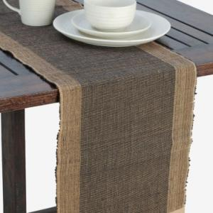 black-cotton-woven-razia-table-runner - table-linen-and-accessories
